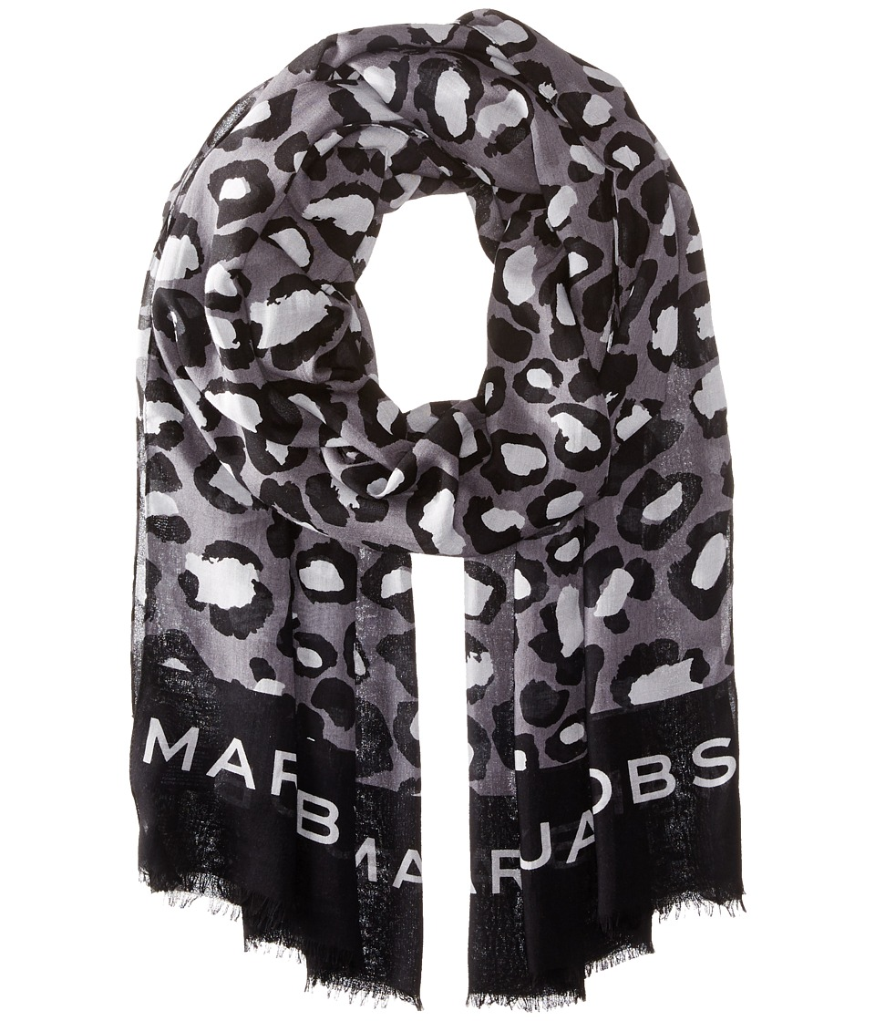 Marc by Marc Jacobs - Painted Leopard Scarf (Black Multi) Scarves