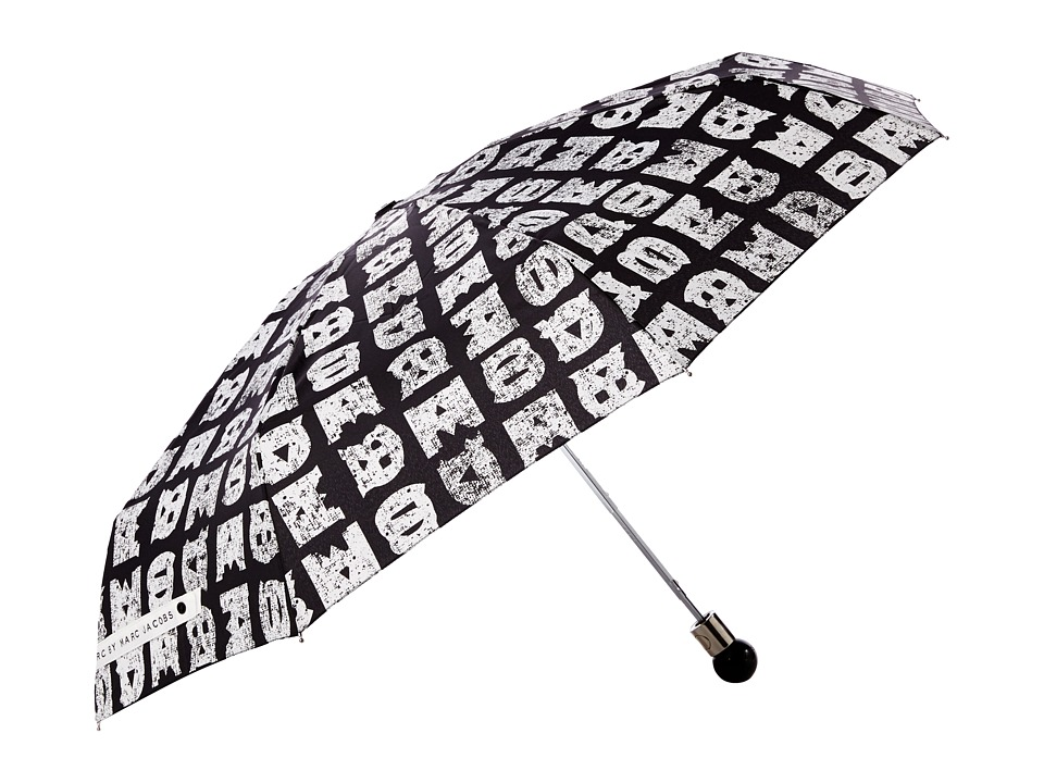 Marc by Marc Jacobs - Stacked Logo Umbrella (Black Multi) Umbrella