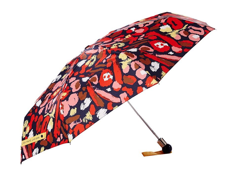 Marc by Marc Jacobs - Graffiti Leopard Umbrella (Ruby Red Multi) Umbrella