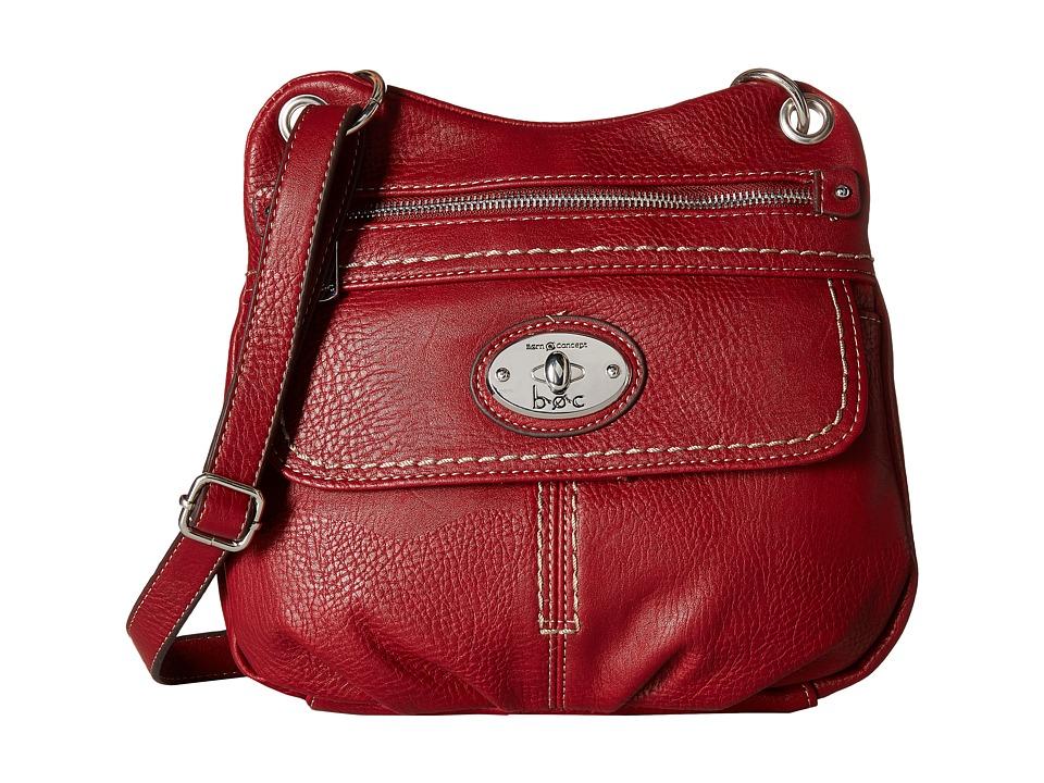 b.o.c. - Berwick Front Pocket Crossbody (Burgundy) Cross Body Handbags