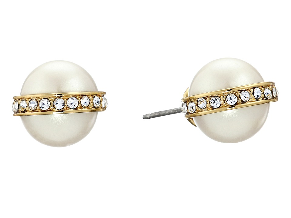Kate Spade New York - Purely Pearly Stud Earrings (Cream) Earring