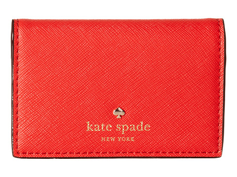 Kate Spade New York - Cedar Street Melanie (Cherry Liqueur) Bill-fold Wallet