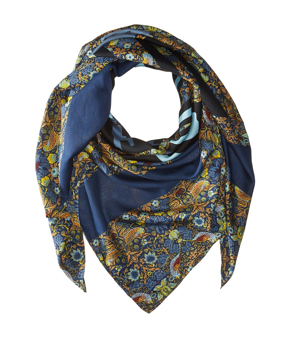 Marc by Marc Jacobs - Strawberry Thief Scarf (Gettysburg Blue Multi) Scarves