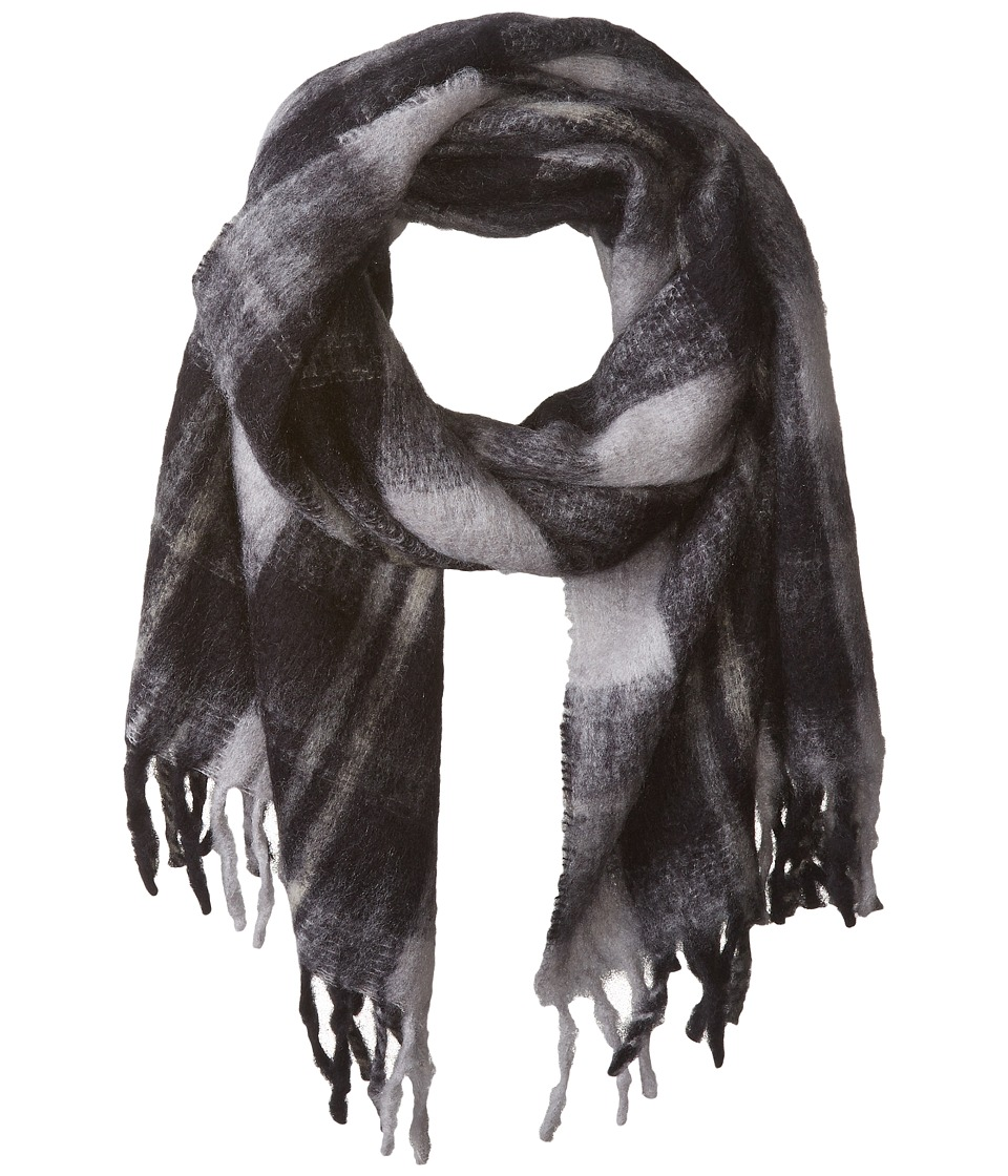 Marc by Marc Jacobs - Blanket Plaid Scarf (Black Multi) Scarves