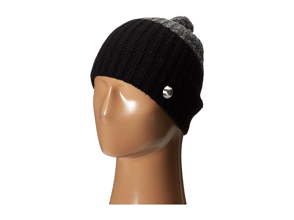 Marc by Marc Jacobs - Patchwork Wool Hat (Dark Grey Melange Multi) Beanies