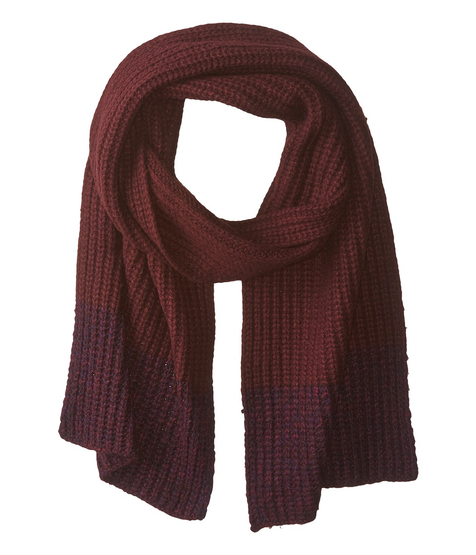 Marc by Marc Jacobs - Patchwork Wool Scarf (Musk Brown Multi) Scarves