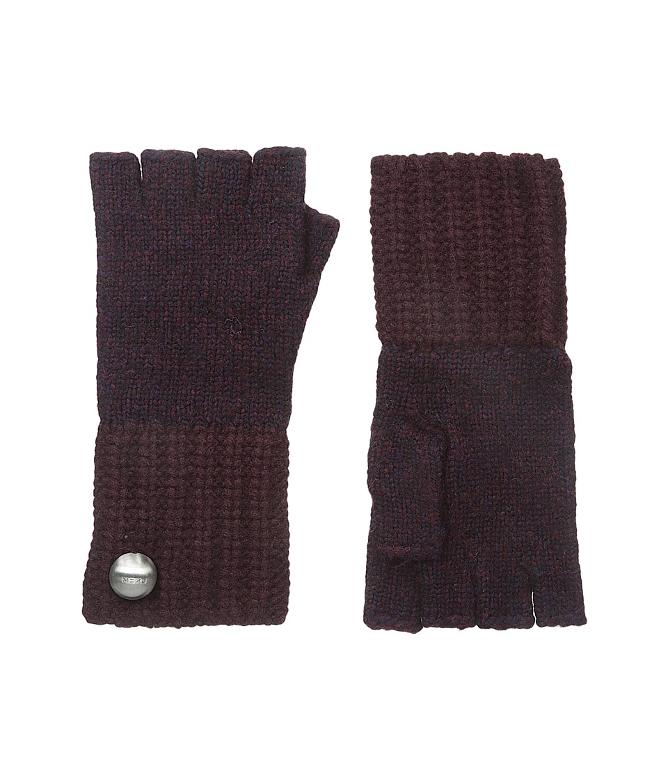 Marc by Marc Jacobs - Patchwork Fingerless Gloves (Musk Brown Multi) Dress Gloves