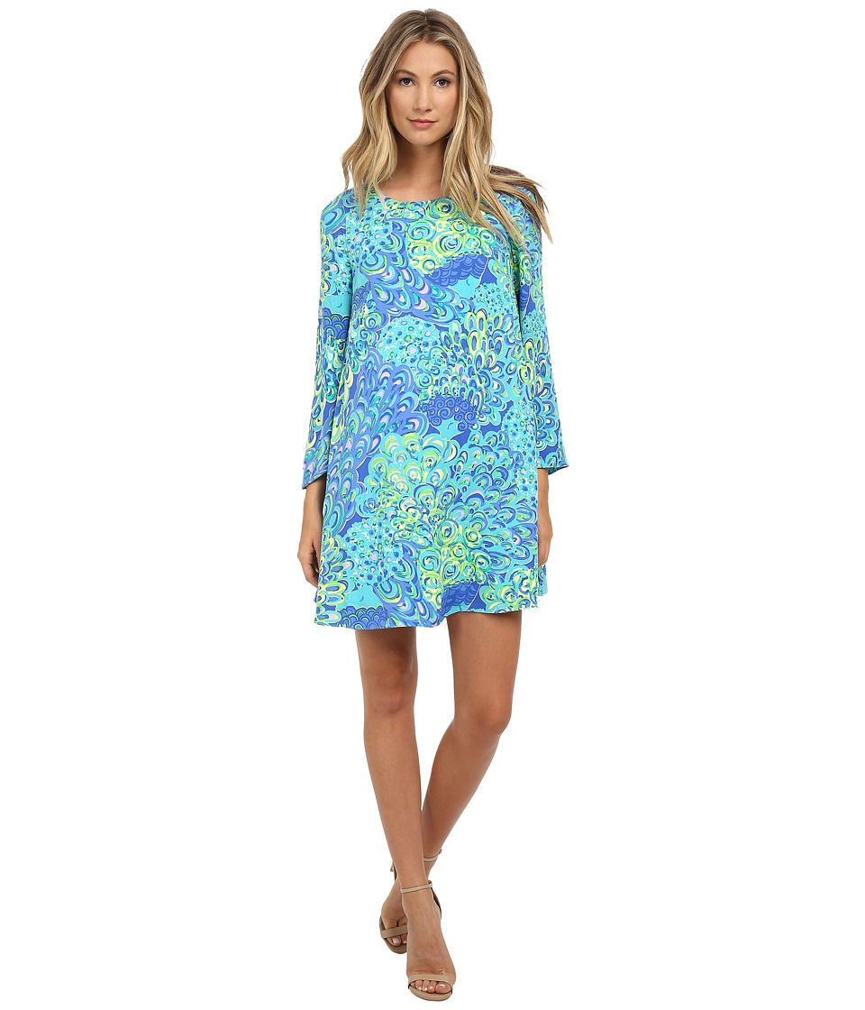 Lilly Pulitzer Colette Tunic Dress (Sea Blue Lillys Lagoon) Women