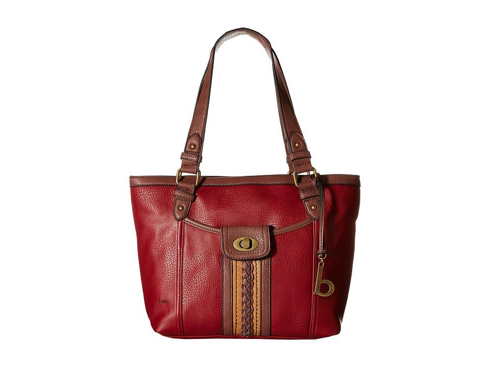 b.o.c. - Islesport Tote (Burgundy/Walnut/Camel) Tote Handbags