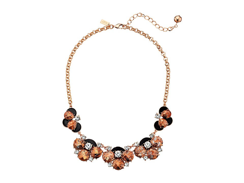 Kate Spade New York - Fame and Flowers Necklace (Black/Multi) Necklace