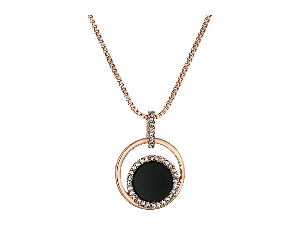 Kate Spade New York - In the Spotlight Mini Pendant Necklace (Black/Multi) Necklace