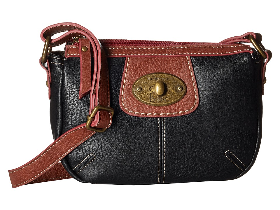 b.o.c. - Falmouth Crossbody (Black) Cross Body Handbags