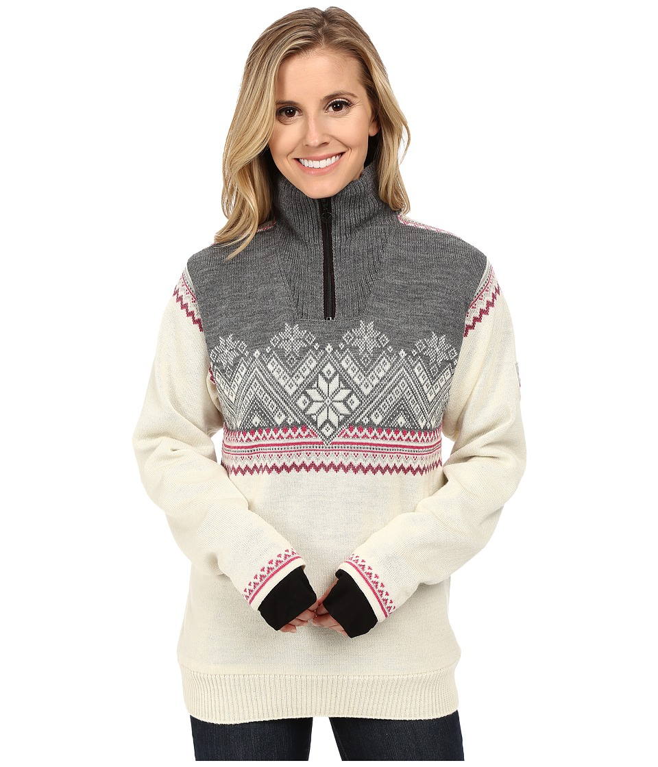 Dale of Norway - Glittertind Feminine (Off White/Light Charcoal/Allium/Smoke) Women's Sweater