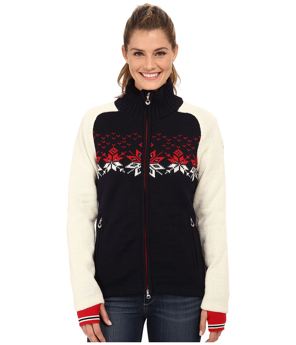 Dale of Norway - Snetind Feminine (Navy/Off White/Raspberry/Smoke) Women's Sweater