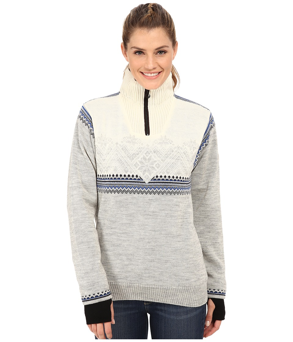 Dale of Norway - Glittertind Feminine (Light Charcoal/Navy/Cobalt/Off White) Women's Sweater