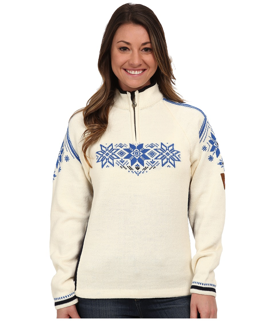 Dale of Norway - Holmenkollen Feminine (Off White/Navy/Cobalt) Women's Sweater