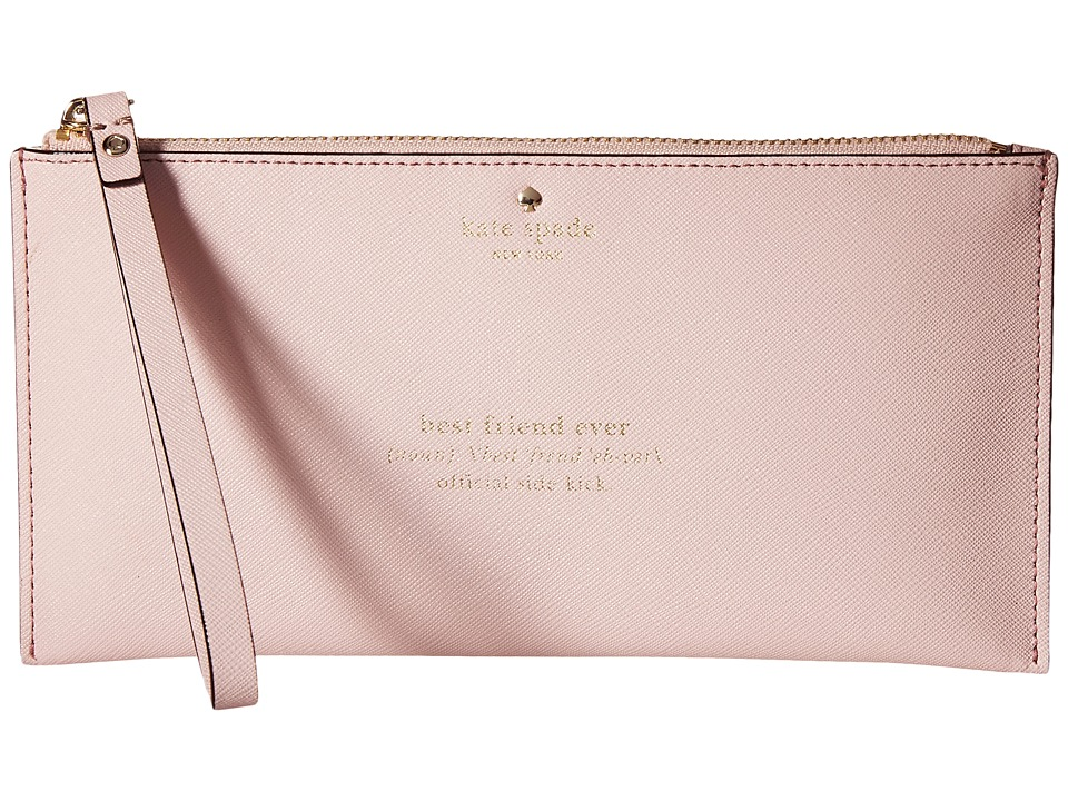 Kate Spade New York - Wedding Belles Adra Zip Pouch (Rosy Dawn) Travel Pouch