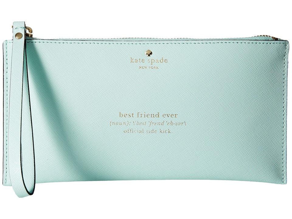 Kate Spade New York - Wedding Belles Adra Zip Pouch (Grace Blue) Travel Pouch
