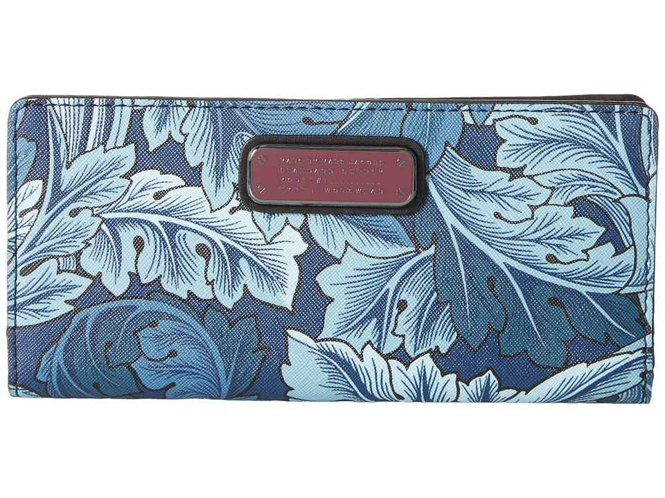 Marc by Marc Jacobs - Sophisticato Printed Acanthus Tomoko Wallet (Acanthus Print Gettysburg Blue Multi) Wallet Handbags