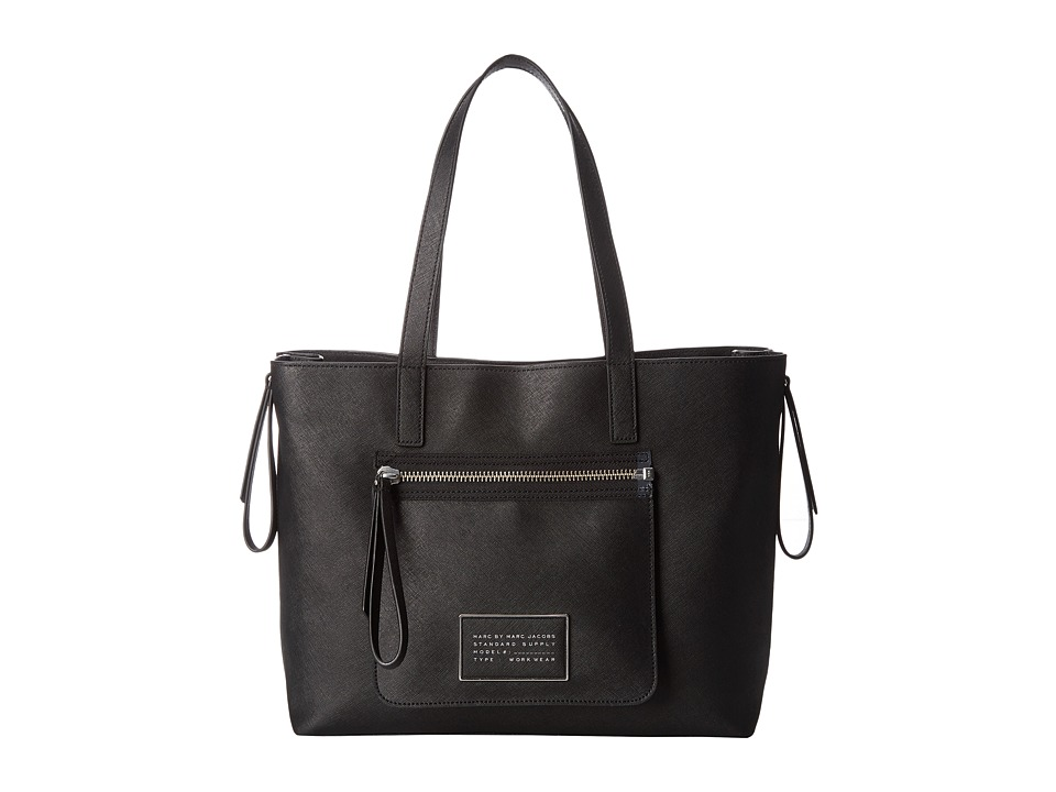 Marc by Marc Jacobs - Zip It Saffiano Zipper Tote (Black) Tote Handbags