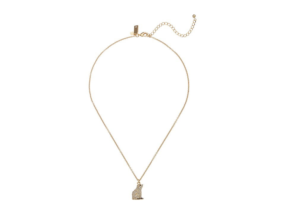 Kate Spade New York - Polar Bear Mini Pendant Necklace (Clear) Necklace