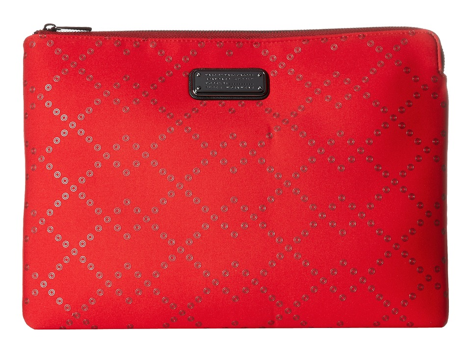 Marc by Marc Jacobs - Neoprene Crosby Grommet Tech 13 Zip Cutout Case (Cambridge Red) Computer Bags