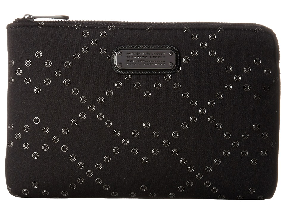 Marc by Marc Jacobs - Neoprene Crosby Grommet Tech Mini Tablet Zip Cutout Case (Black) Computer Bags