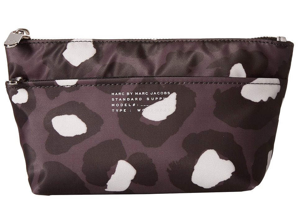 Marc by Marc Jacobs - Coated Printed Canvas Perfect Pouch (Gunmetal Multi) Travel Pouch