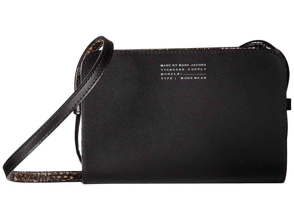 Marc by Marc Jacobs - Our Zips Are Sealed Gemini Crossbody (Black Multi) Cross Body Handbags