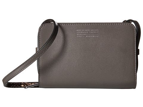 Marc by Marc Jacobs - Our Zips Are Sealed Gemini Crossbody (Faded Aluminum Multi) Cross Body Handbags