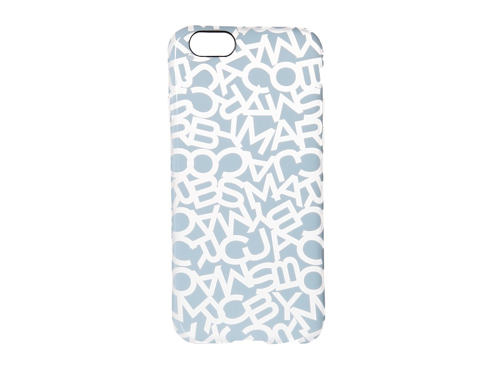 Marc by Marc Jacobs - Scrambled Logo iPhone 6 Case (Mystic Blue) Cell Phone Case