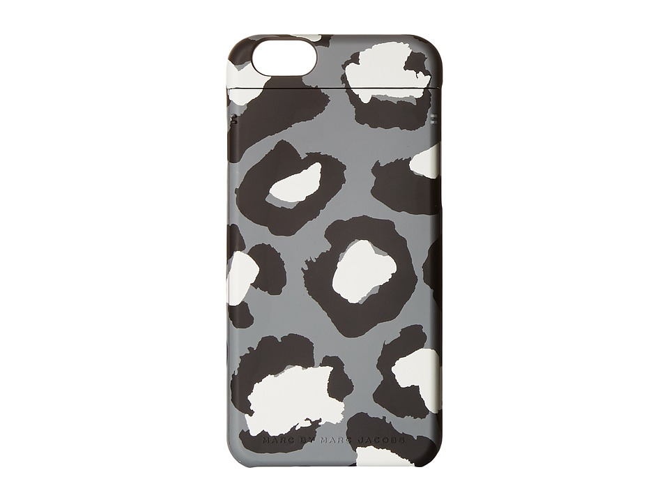 Marc by Marc Jacobs - Poker Face Leopard Phone 6 Case (Gunmetal Multi) Cell Phone Case