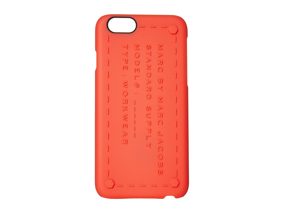 Marc by Marc Jacobs - Standard Supply Phone 6 Case Rubberized (Shock Red) Cell Phone Case