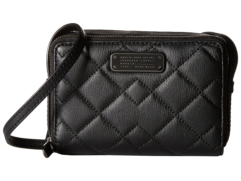 Marc by Marc Jacobs - Crosby Quilt Leather Gemini Crossbody (Black) Cross Body Handbags