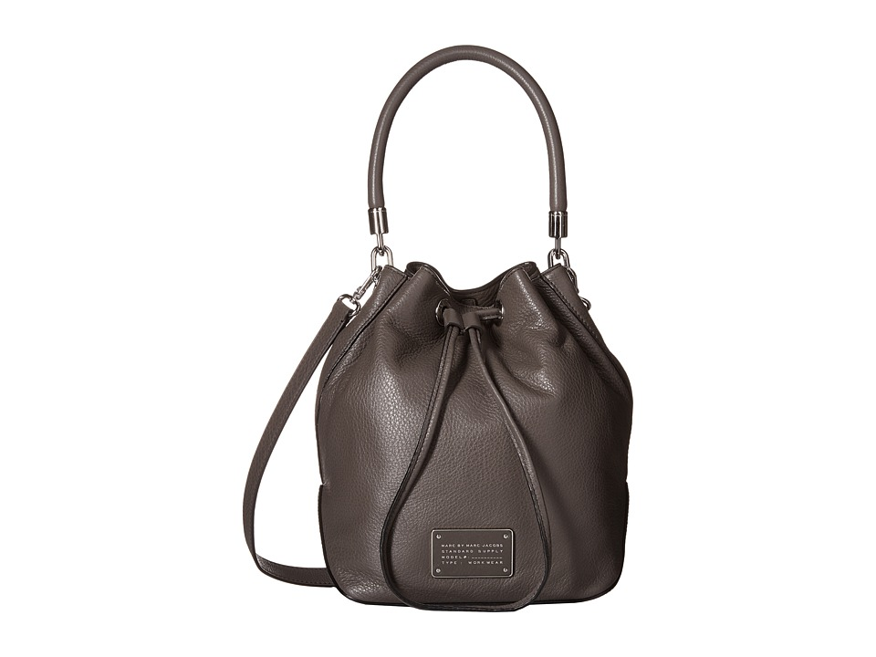 Marc by Marc Jacobs - Too Hot to Handle Large Drawstring (Faded Aluminum) Drawstring Handbags