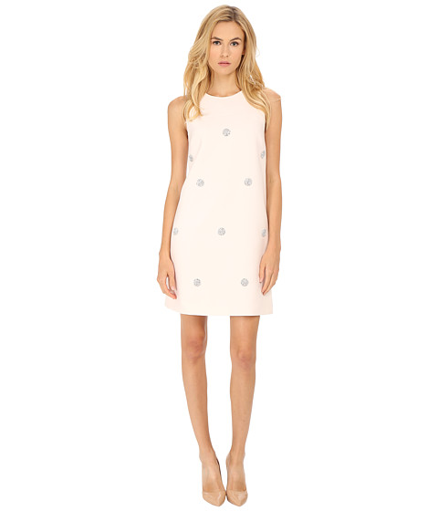 Kate Spade New York - Embellished Dot Shift Dress (Ballerina Pink) Women