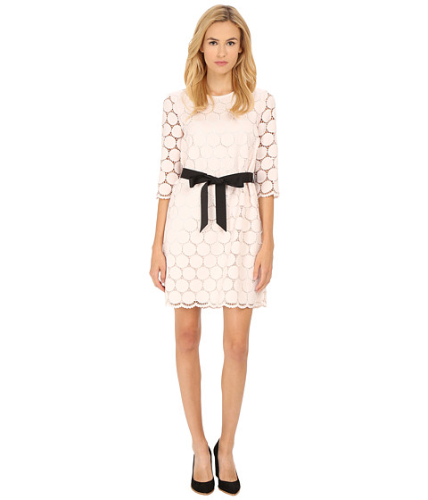 Kate Spade New York - Dot Lace Shift Dress (Ballerina Pink) Women