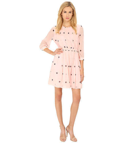 Kate Spade New York - Tiny Spotlight Pleated Dress (Pastry Pink) Women's Dress