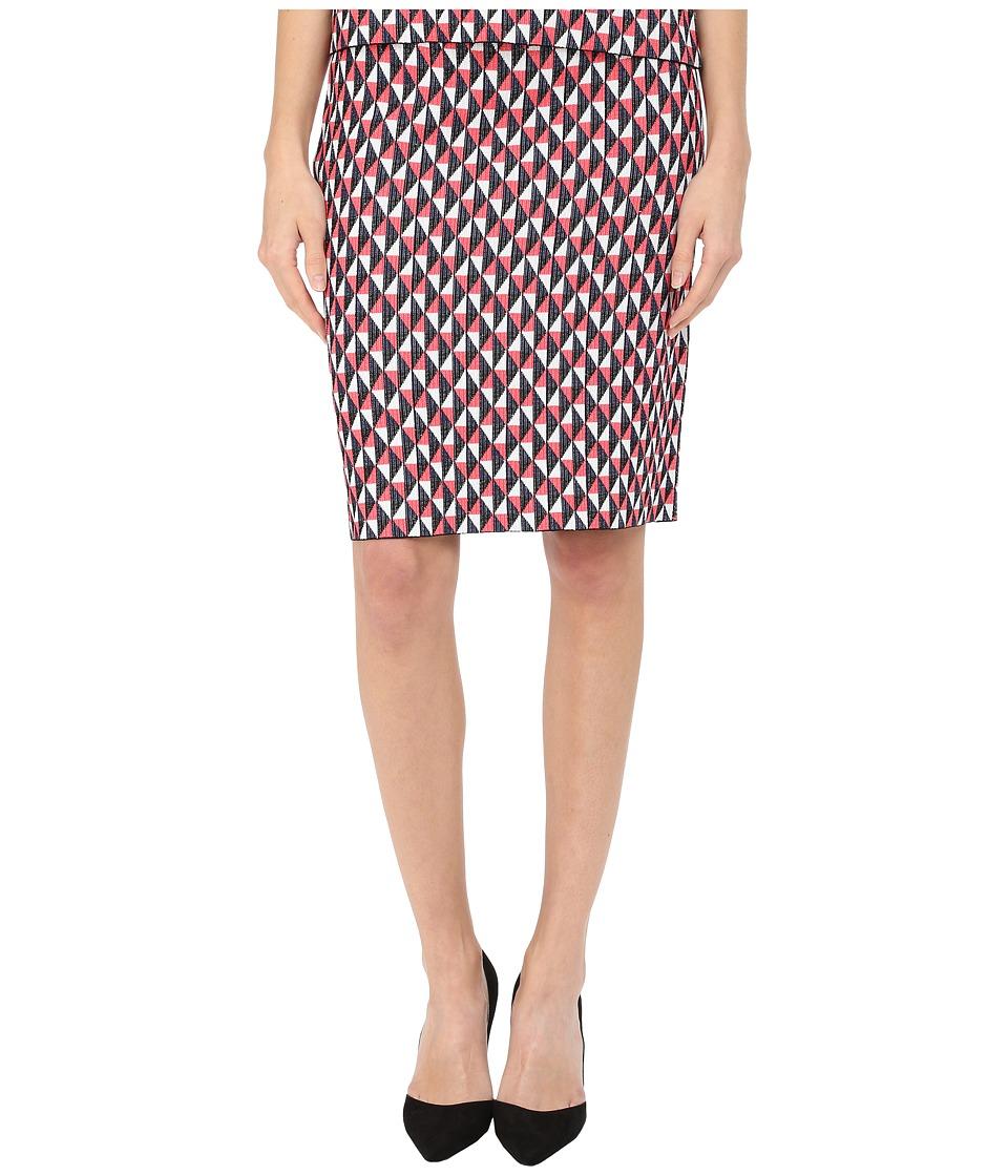 Kate Spade New York - Flying Kites Pencil Skirt (Geranium Multi) Women's Skirt plus size,  plus size fashion plus size appare