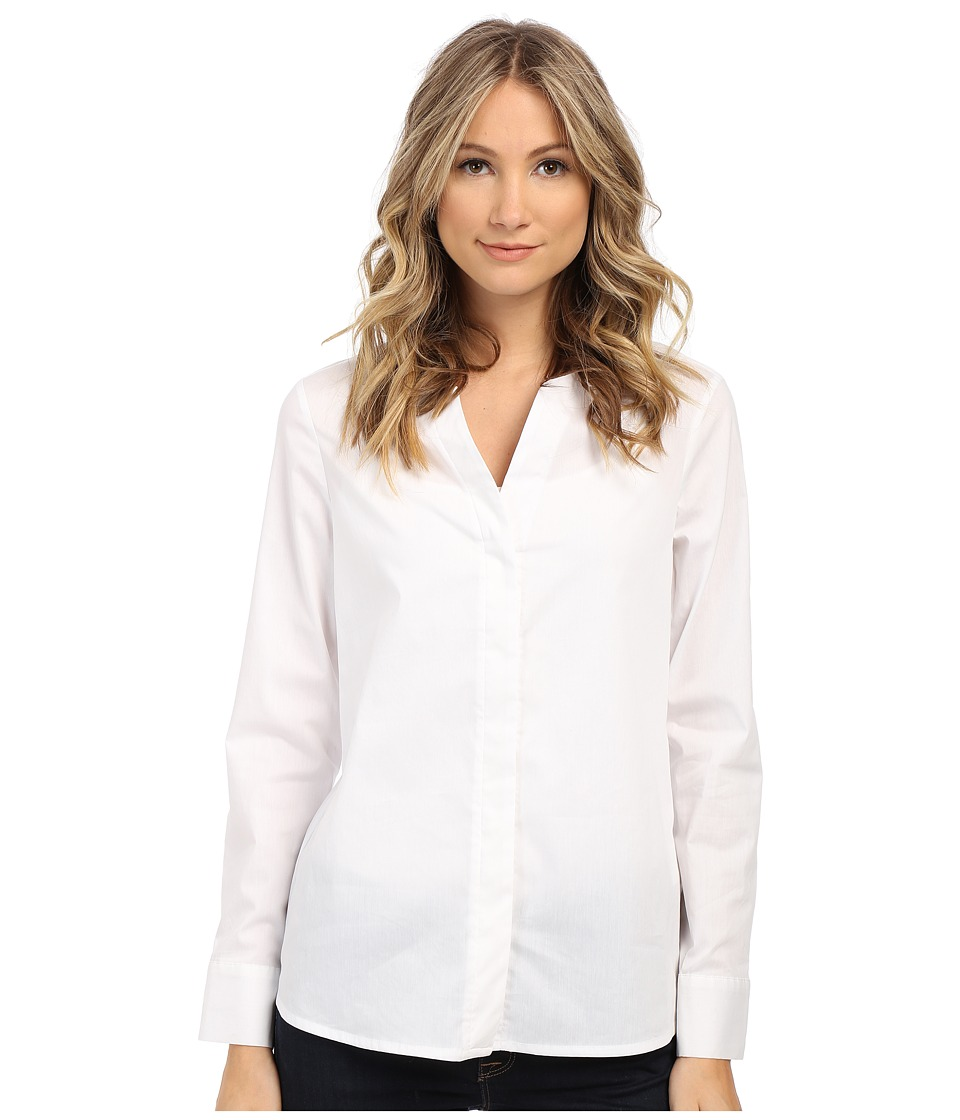 Sam Edelman - Devon Hidden Placket Long Sleeve Blouse (White) Women