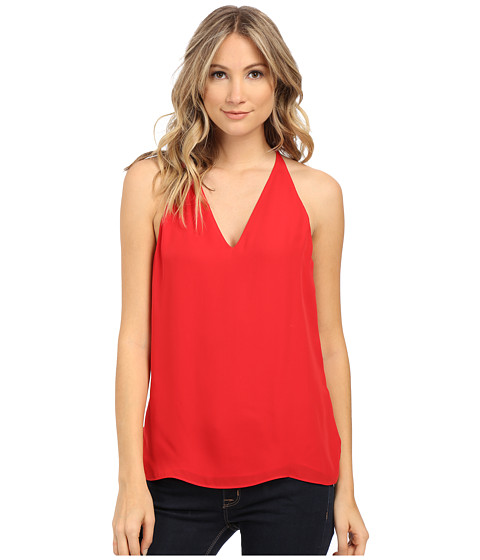 Sam Edelman - Kai T Back Spaghetti Tank Top (Crimson) Women's Sleeveless