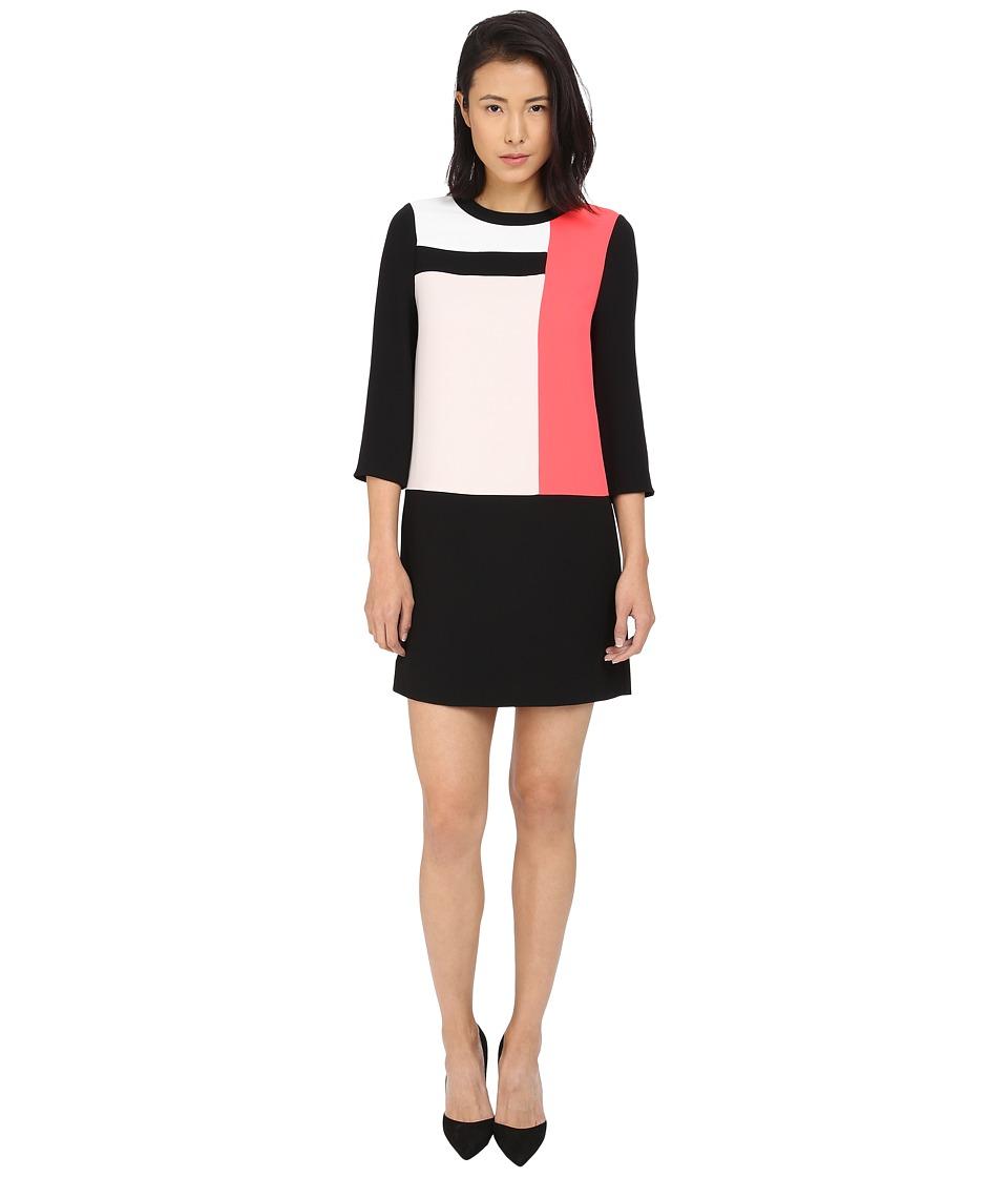 Kate Spade New York - Color Block Shift Dress (Black Multi) Women's Dress