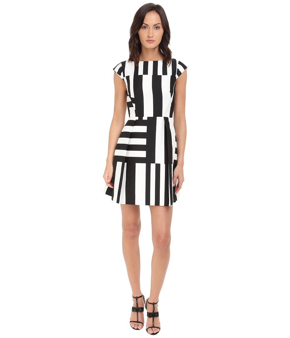 Kate Spade New York - Multi Stripe Kite Bow Back Dress (Neutral Multi) Women's Dress