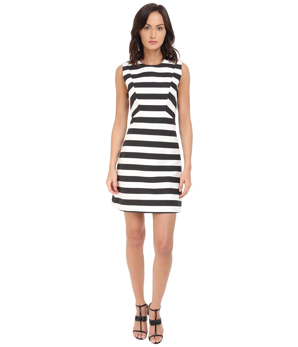 Kate Spade New York - Small Kite Stripe Sicily Dress (Black/Cream) Women's Dress
