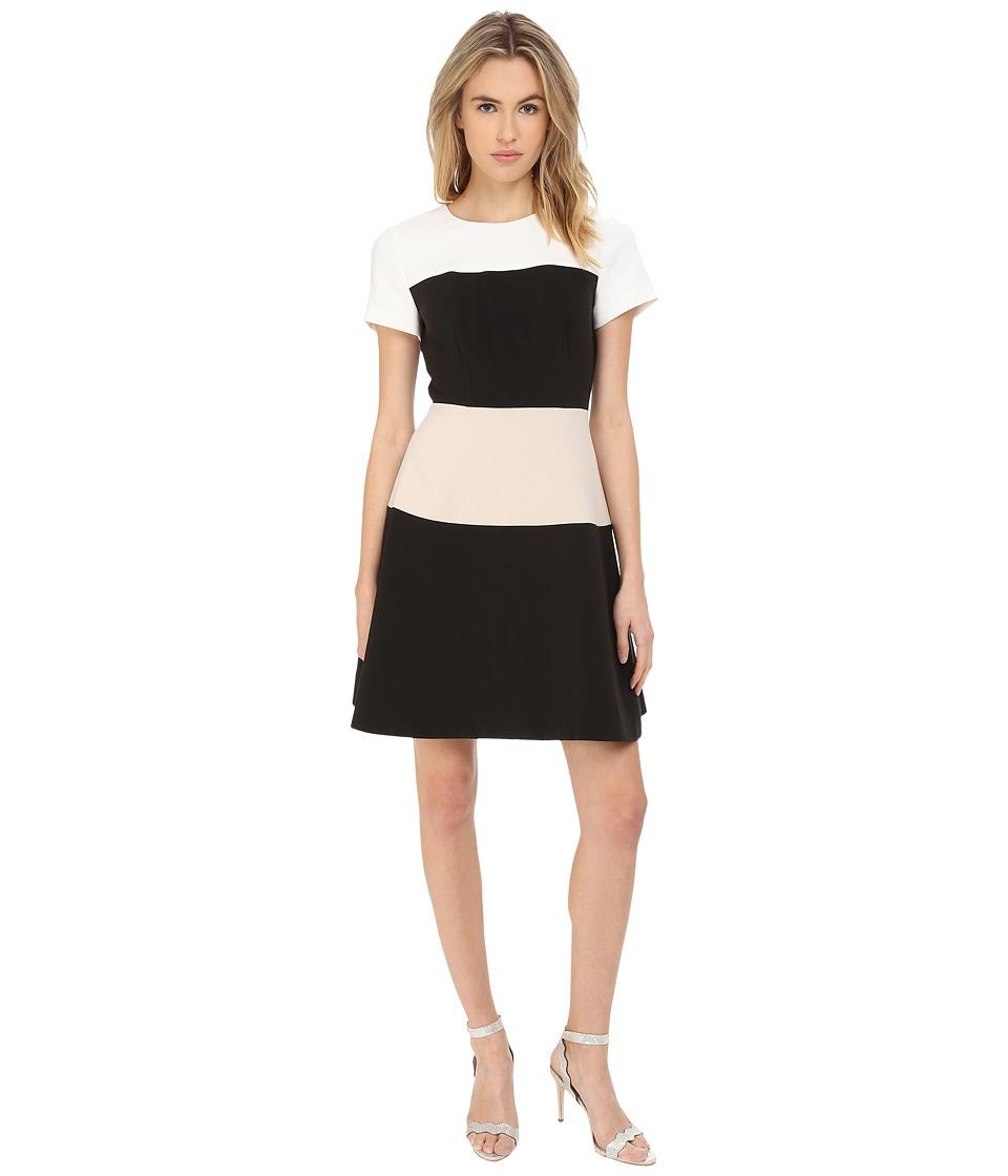 Kate Spade New York - Stripe Crepe Dress (Cream Multi) Women's Dress
