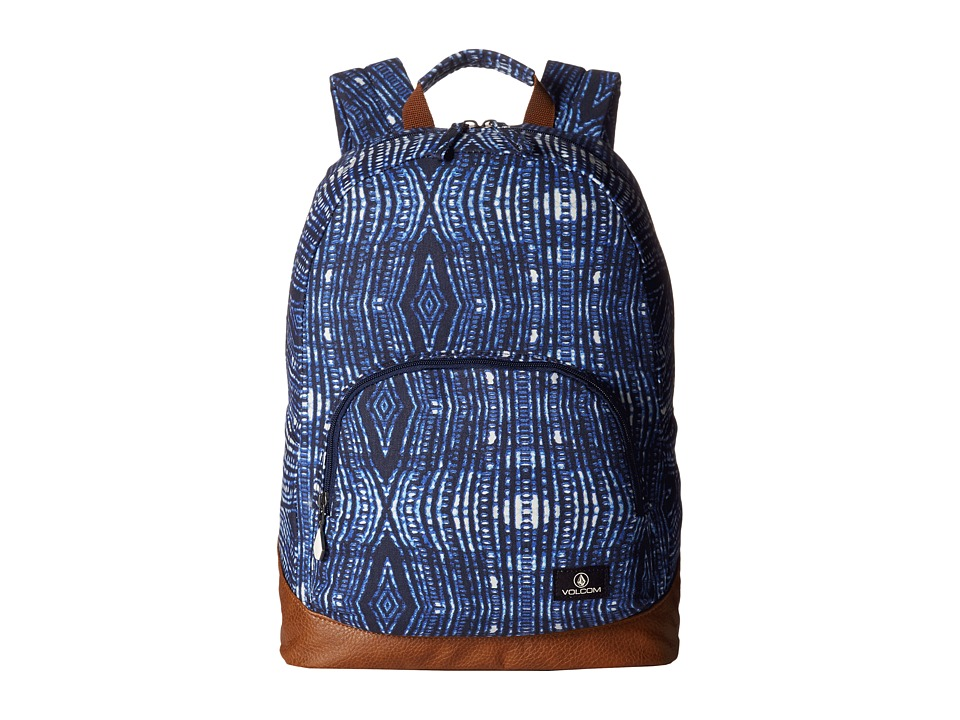 Volcom - Schoolyard Canvas Backpack (Midnight Blue) Backpack Bags