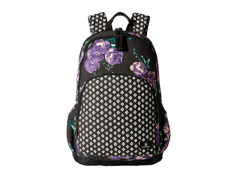 Volcom - Fieldtrip Canvas Backpack (Black White) Backpack Bags