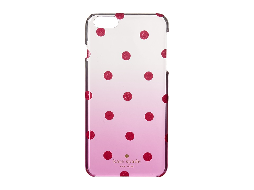 Kate Spade New York - Glitter Dot Clear Ombre Resin Phone Case for iPhone 6 Plus (Vivid Snapdragon) Cell Phone Case