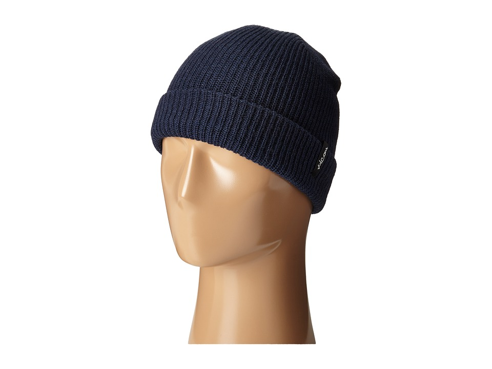 Volcom - Slight Chile Beanie (Midnight Blue) Beanies