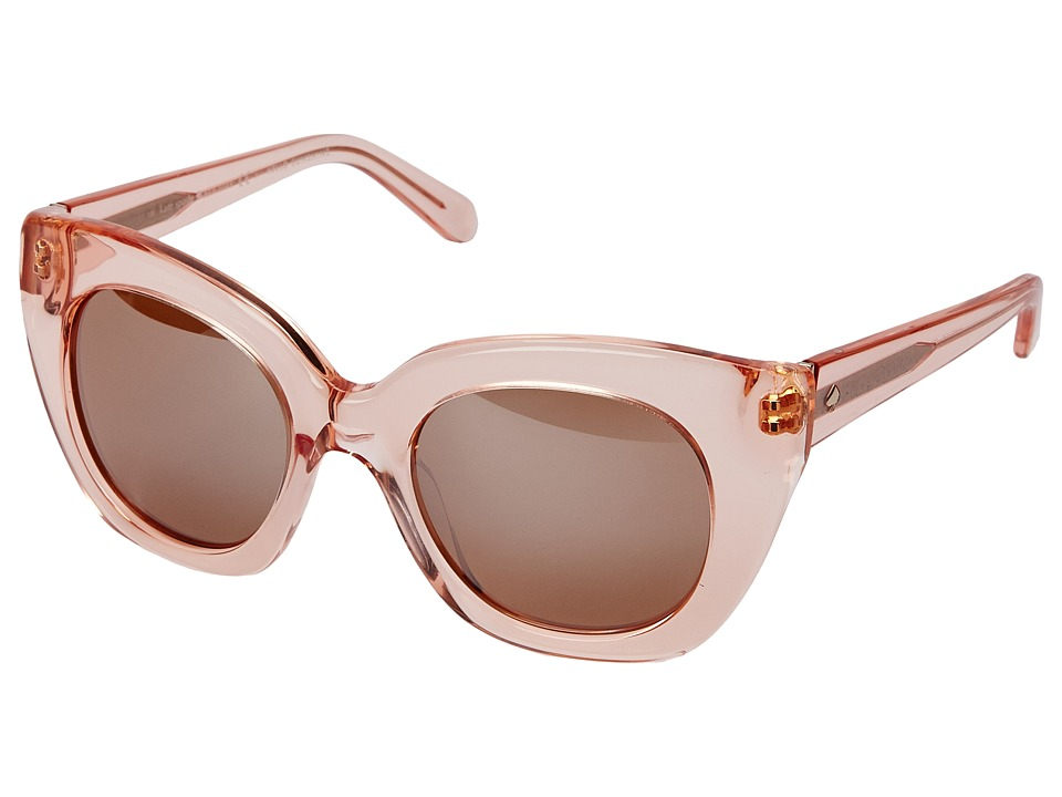 Kate Spade New York - Narelle (Crystal Flamingo/Brown Rose Mirror) Fashion Sunglasses